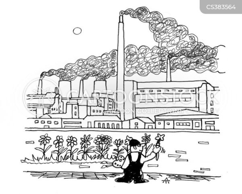 industrial landscape cartoons