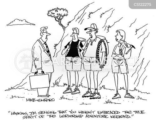 Cartoons und Karikaturen mit Abenteuer