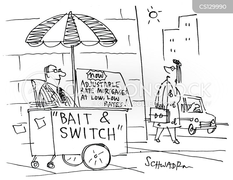 bait and switch cartoons