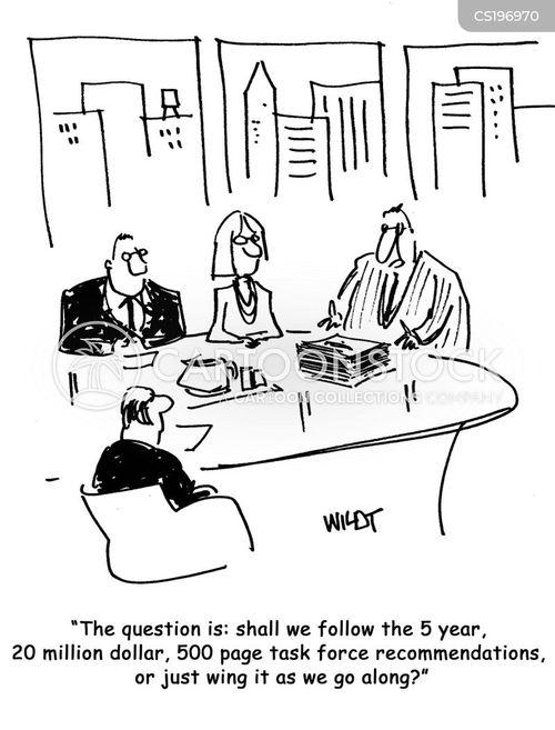 Cartoons und Karikaturen mit Rentabilität