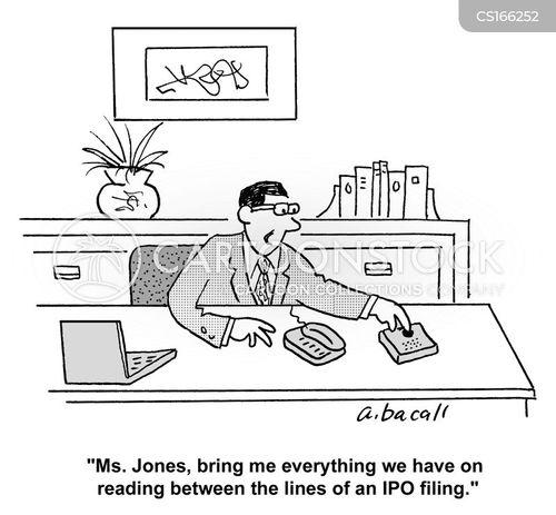 stock market cartoons and
