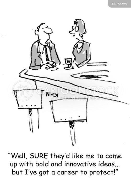 Cartoons und Karikaturen mit Risiko