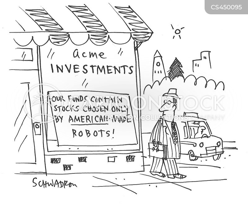 stock market robots cartoons