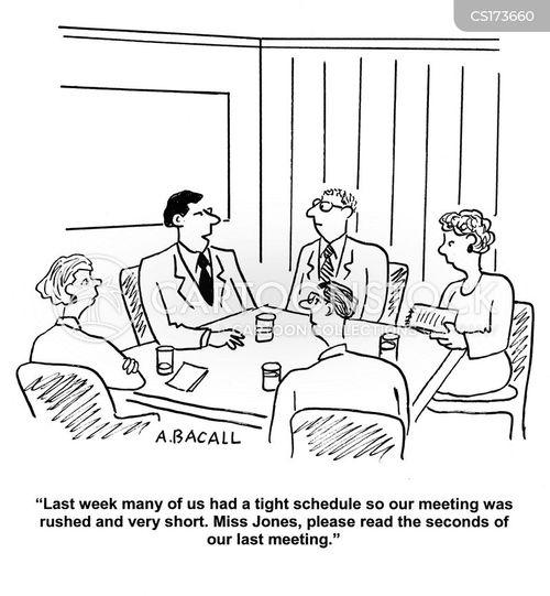 Cartoons und Karikaturen mit Tagesordnung