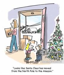 delivery package cartoon amazon cartoons funny shopping cartoonstock christmas gift comics dislike santa