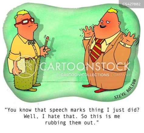 Image result for speech mark cartoon
