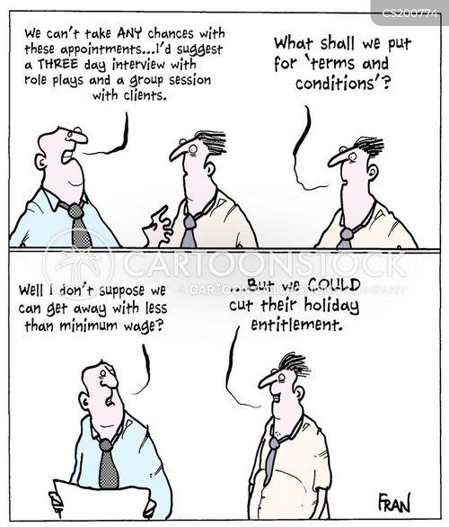 minimum wage job interview