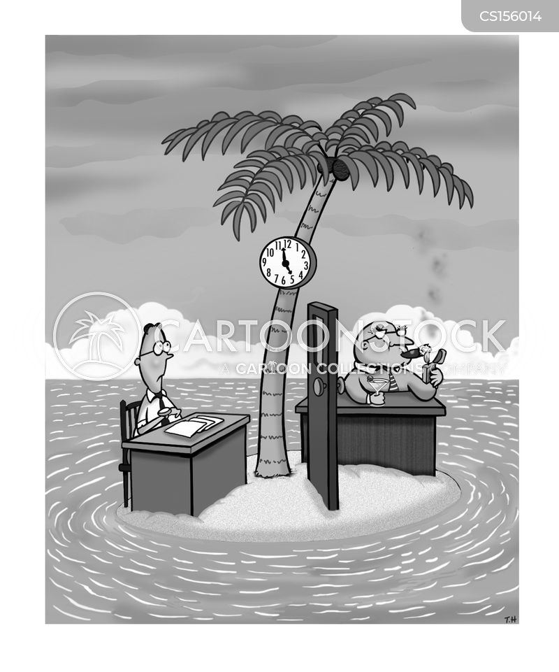 Clock Watching Cartoons and Comics  funny pictures from CartoonStock
