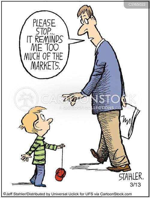 stock exchange cartoons and
