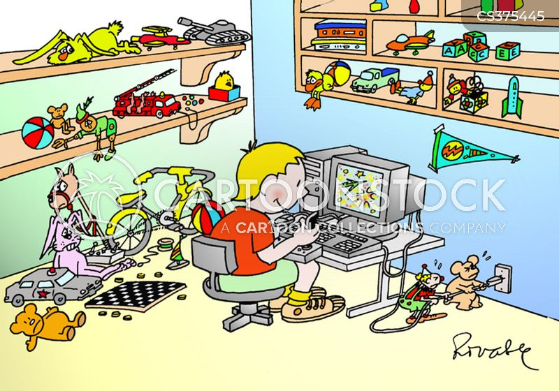 Messy Kid Cartoons and Comics  funny pictures from
