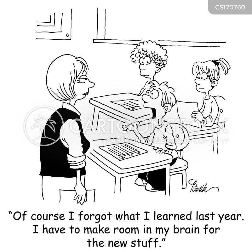 Cartoons und Karikaturen mit Intelligente
