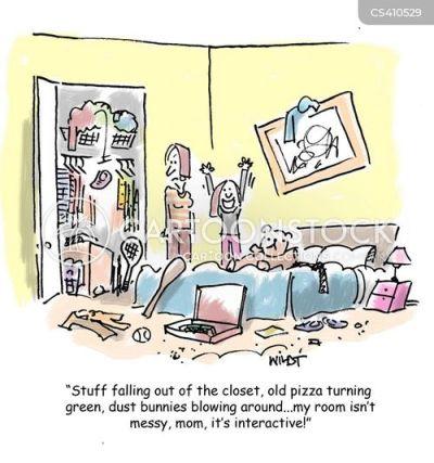 Untidy Bedroom Cartoon 3 Of 7