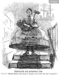 victorian clothing crinoline cartoon cartoons dress clothes dislike cartoonstock