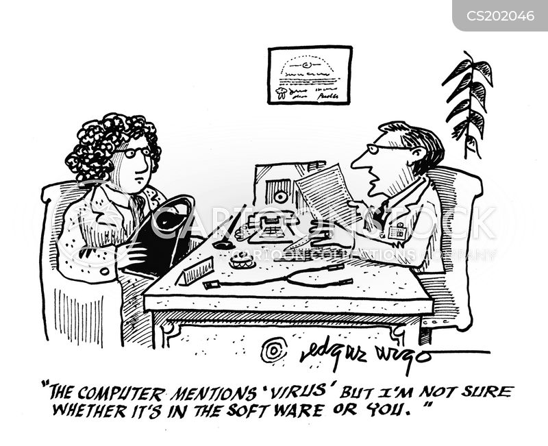 Cartoons und Karikaturen mit Verwirrt