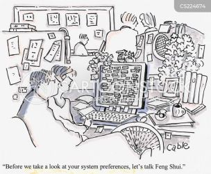 Messy Desk Cartoons and Comics funny pictures from CartoonStock