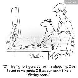 shopping computer cartoon cartoons funny comics internet clothes cartoonstock illustrations dislike computers