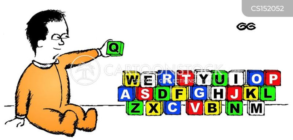 Keyboard Qwerty cartoon