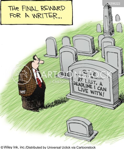 Image result for dead author client cartoon