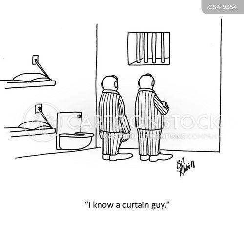 curtains cartoons and comics