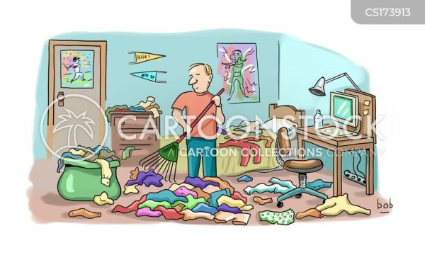Messy Bedroom Cartoons and Comics funny pictures from