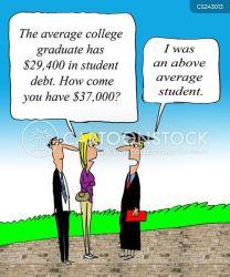 college debt graduates cartoon cartoons student funny comics graduate university tuition dollars thousands education fee jesus cartoonstock broke low uni