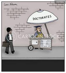 graduate cartoon cartoons funny grad doctoral doctorate comics cartoonstock education schools doctor