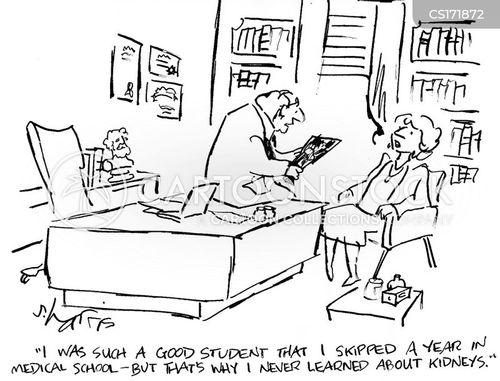 Cartoons und Karikaturen mit Studieren