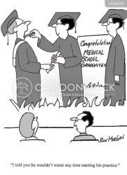 cartoon graduate graduation doctor cartoons medical comics funny humor drawing practice starting diploma graduating student education ceremony teaching jokes cartoonstock