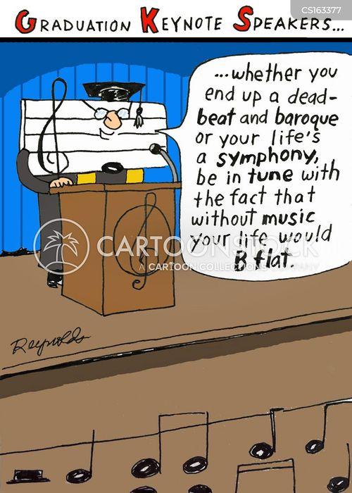 graduation speakers cartoons and