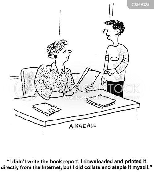 Cartoons und Karikaturen mit Schummeln