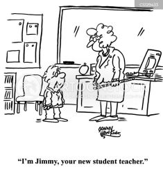 Student Teaching Cartoons and Comics funny pictures from CartoonStock