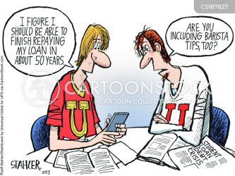 debt student cartoon cartoons funny college loan comics cartoonstock repayment dislike