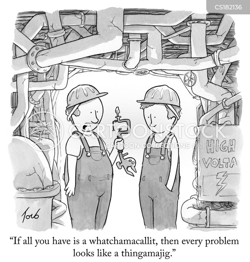 Right Tool For The Job Cartoons and Comics  funny