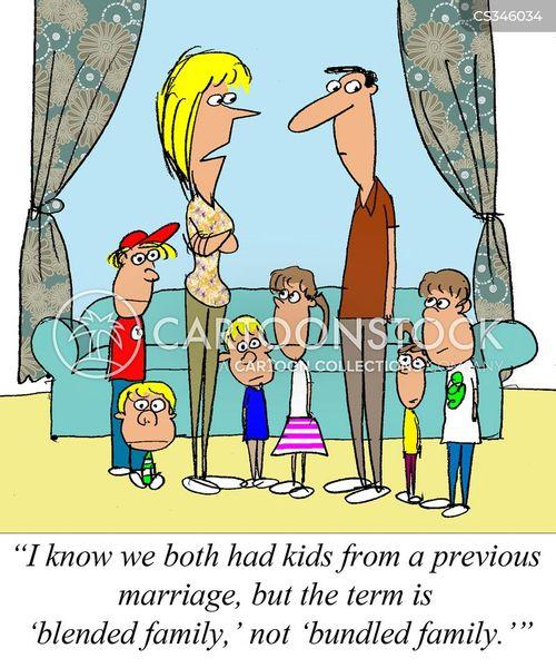 Family Photo Cartoon : family, photo, cartoon, Blended, Families, Cartoons, Comics, Funny, Pictures, CartoonStock