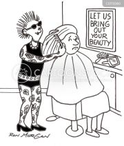 hairdressing cartoons and comics