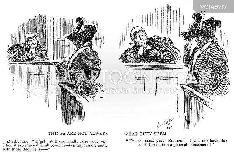 Witness Stand Vintage and Historic Cartoons