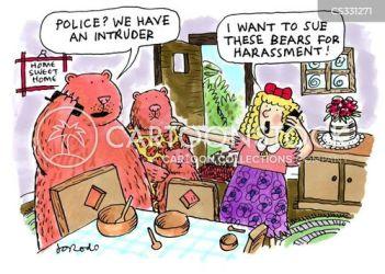 bears goldilocks cartoon funny cartoons fairytale cartoonstock fairy tale dislike food comics story