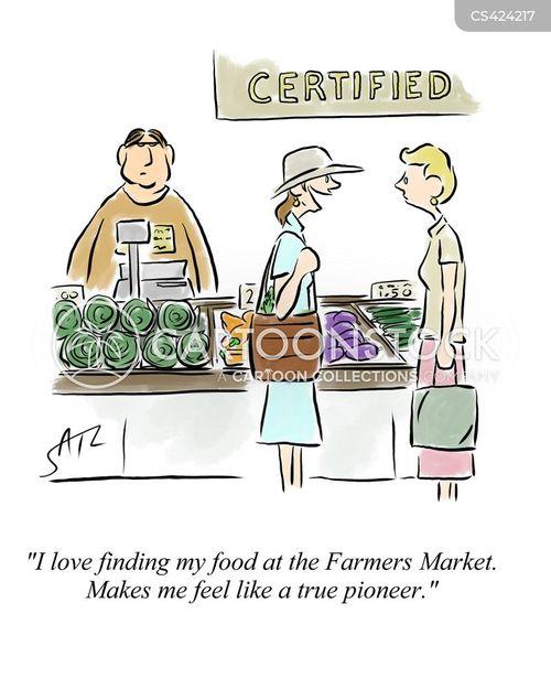 Cartoon Farmers Market : cartoon, farmers, market, Farmers, Markets, Cartoons, Comics, Funny, Pictures, CartoonStock