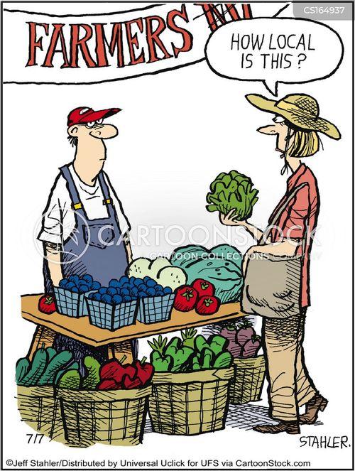 Cartoon Farmers Market : cartoon, farmers, market, Farmer's, Market, Cartoons, Comics, Funny, Pictures, CartoonStock