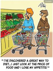 shopping bill cartoon cartoons funny grocery comics groceries cartoonstock dislike
