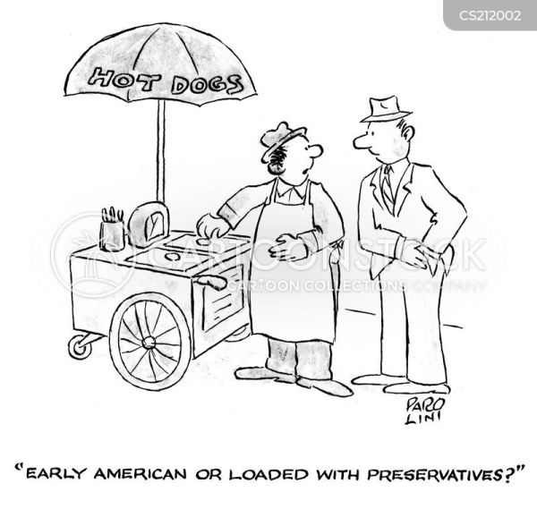 Hotdog Stand Cartoons and Comics funny pictures from