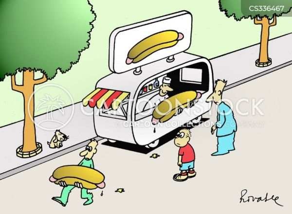 Hot Dog Stall Cartoons and Comics funny pictures from