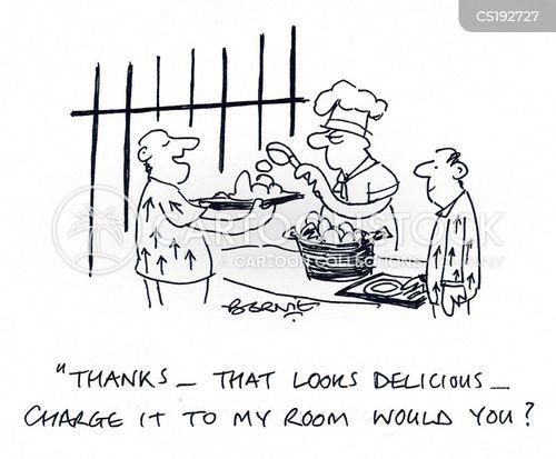 Cartoons und Karikaturen mit Hotel