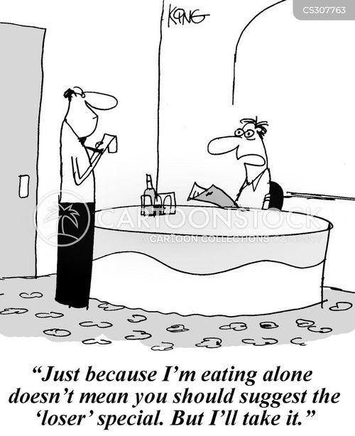 Eating Alone Funny : eating, alone, funny, Eating, Alone, Cartoons, Comics, Funny, Pictures, CartoonStock
