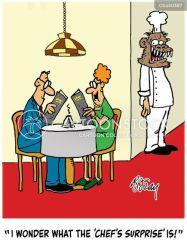 fancy restaurants cartoon cartoons funny cartoonstock surprise dislike startle