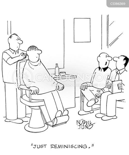 Cartoons und Karikaturen mit Friseuse