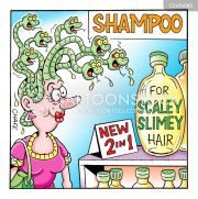 hair products cartoons and comics