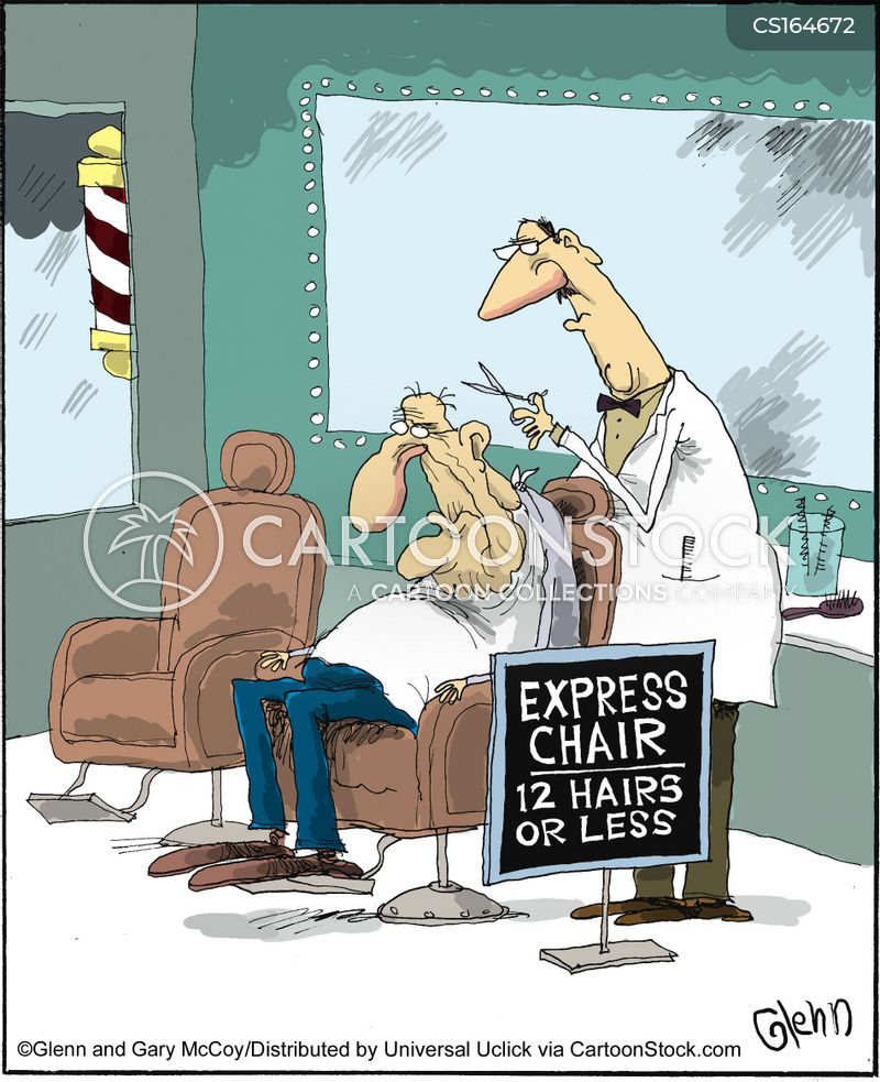 mobile barber chair cool chairs hairdresser cartoons and comics - funny pictures from cartoonstock