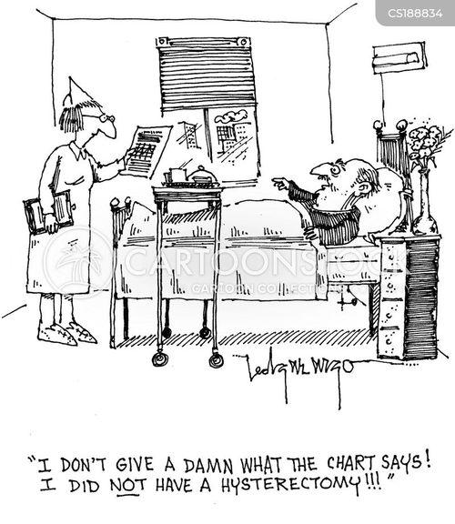Cartoons und Karikaturen mit Gebärmutter