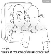 hairloss cartoons and comics
